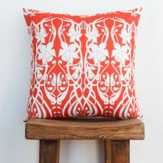 Boheme daffodil coral cushion