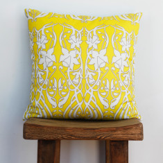 Boheme daffodil yellow cushion