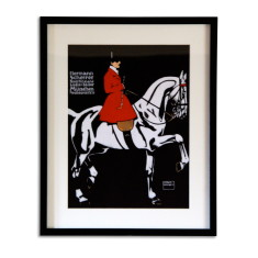 Equestrian ladies tailor art print