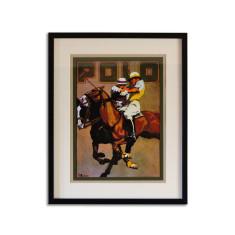 Polo ponies vintage art print
