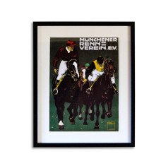 Munchen horse racing art print