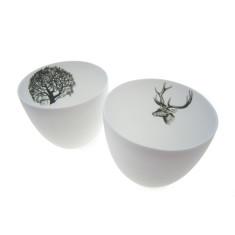 Ceramic Bowls: Tree + Deer