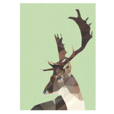 Geometric deer art print