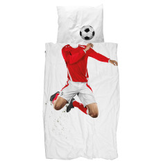 Snurk quilt cover set soccer champ set red