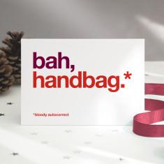 Funny Handbag autocorrect Christmas card