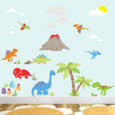 Deluxe dinosaur fabric wall stickers