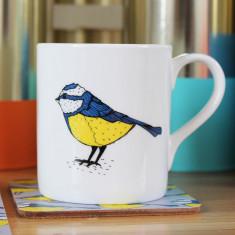 Bold Blue Tit Mug