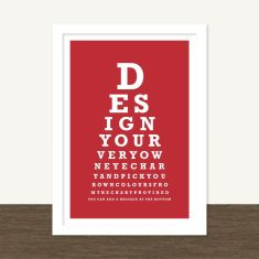 Personalised classic eye chart print (own words and colours)