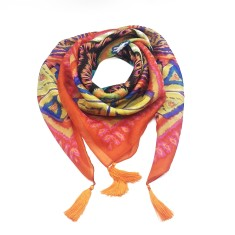 Olivia silk scarf in orange