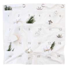 Christmas advent calendar in white