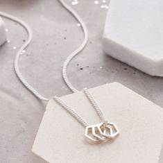 Hexagonal Charm Necklace