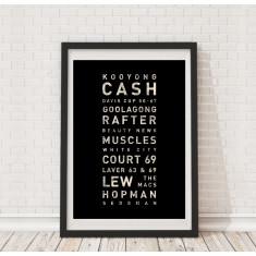 Australian tennis tramscroll print