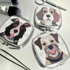 Dog compact mirror (54 breeds available)
