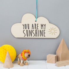You Are My Sunshine cloud hanging decoration