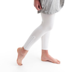 Ankle Zip Legging in White