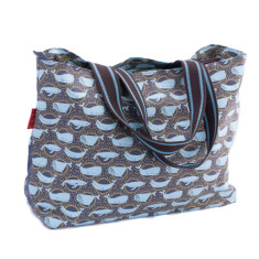 Tamelia cotton canvas Whale tote bag