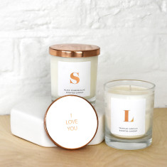 Monogram Initial Personalised Scented Candle