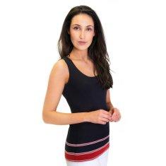 Silk Cashmere Striped Singlet In Slate