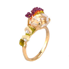 Rock Crystal Small Ring
