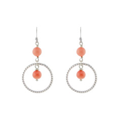 Coral in Cordoba earrings