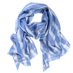 Glimmer Silk Cotton Lurex Check Scarf (various colours)