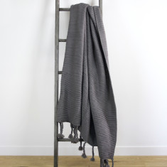 Belle Chunky Knit Throw - Grey