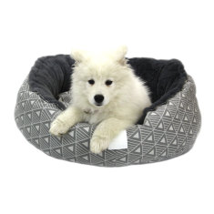 Frost grey snug pet bed
