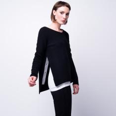 Hint of grey split side pullover