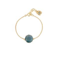 Round stone bracelet with Blue Grey Diamantine