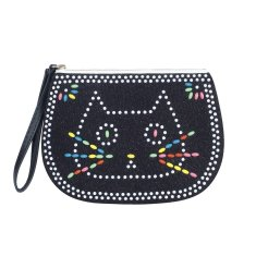 Cat beaded play pouch