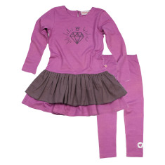 Girls' diamond dress and legging set