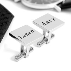 Legendary engraved cufflinks