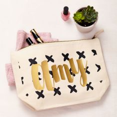 Personalised Crosses Makeup Bag