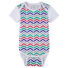 Zig 'n' zaggin' short sleeve baby onesie