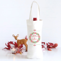 Colourful Wreath personalised wine bag