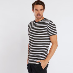 Diagonal stripe tee