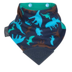 Neckerchew dribble bib in Dino Friends print