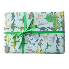 Dinosaur wrapping paper set