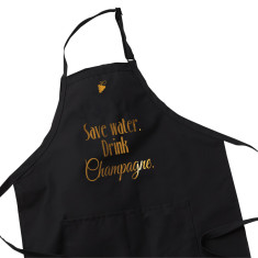 Wine Lover Apron - Save Water, Drink Champagne
