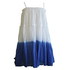 Girls' dip dye dress in blue