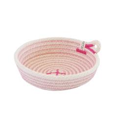 Rope Dish - Pink