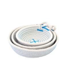 Rope Dish Set - Blue