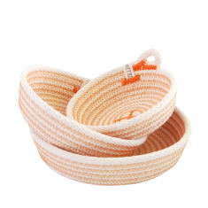 Rope Dish Set - Orange