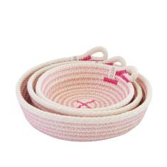 Rope Dish Set - Pink