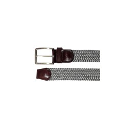 Woven elastic grey men's belt