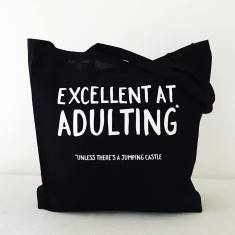 Sometimes good at adulting tote bag
