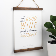 Shakespeare Wine And Friendship Print