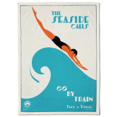 The Seaside Calls Tea Towel