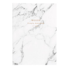 Wouf notebook in white marble (multiple sizes)