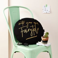 Write Your Own Fairytale Metallic Cushion